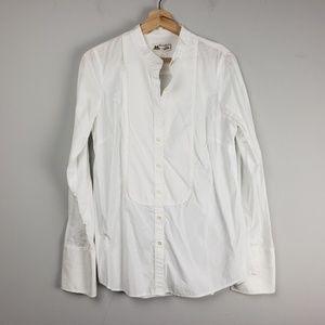 J Crew Thomas Mason Top Size 10 White Shirt Womens